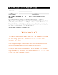 Photography Contracts Pocket Photo Release Agreement 3 Easy Steps