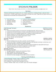 Spa Therapist Resume Sample New Massage Therapist Resume Examples Of