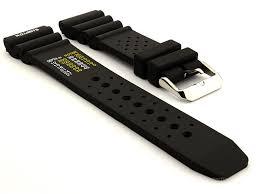 citizen seiko silicone rubber watch strap pro waterproof black 01