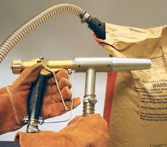 Clemco Industries Blast Cabinets Sandblasting Gun Air Manual Suction Power Clemco