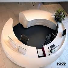 white color round reception desk curved counter modern in inspirations 1 yellow office worktop marble furniture corian91 corian