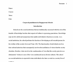 corporal punishment essay thesis writing