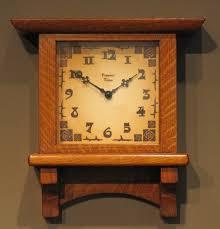 highland wall clock at the present time arts and crafts wall clock arts and crafts wall