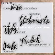 ภาษาเยอรมัน DU BIST STARKER SO PROUD OF YOU DANKE ขนสัตว์ ALLES สมุดภาพการ์ด แสตมป์ยางแสตมป์แสตมป์โปร่งใส 9060403|แสตมป์