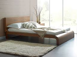 Modern Walnut Bedroom Furniture Roma Natural Walnut Contemporary Bed Modern Bedroom Furniture