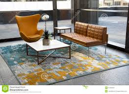 Modern fice Building Lobby Furniture Stock Image