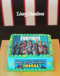 Fortnite Theme Birthday Cake Need A Customised Cakes Contact Us At