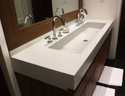 wide bathroom sink two faucets trendy design long bathroom sink sinks marvellous trough with two minimalist