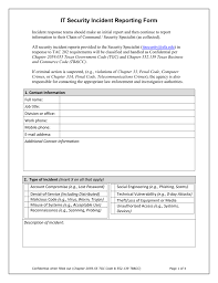 Security Incident Reporting Form