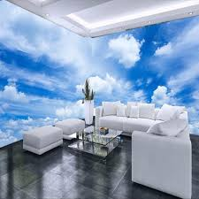 custom 3d mural wallpaper blue sky white clouds wall painting art wallpaper living room bedroom modern