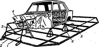 Сварка и ремонт автомобилей Реферат Рис 3 Стенд для правки кузова легкового автомобиля