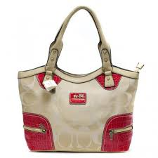 Coach Zip In Monogram Medium Khaki Satchels BYB
