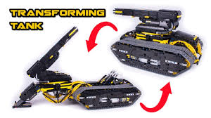 Transforming Lego Technic Tank Howitzer Full Rc Youtube