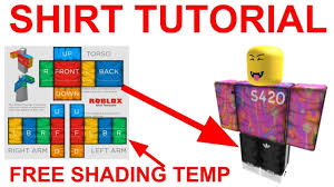How To Create Your Own Clothes On Roblox Roblox Shirt Shading Template You Get Robux