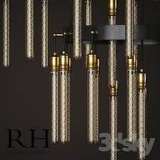 3d models ceiling light restoration hardware axis 3 tier chandelier 60