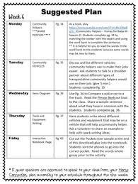 Community Helpers Kindergarten 1st Grade Nine Weeks Lesson Plans