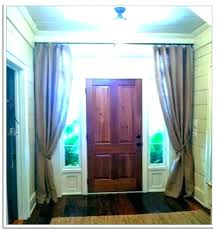 exterior door window curtains front side curtain panel glass coverings fron