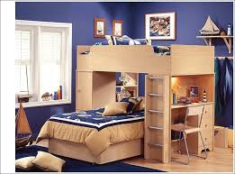 bedroom kids bunk beds with desk underneath black fabric sofa bed flower motif bedding under stair bunk beds stairs desk
