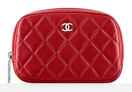 chanel zip pouch. chanel small quilted zipper pouch zip a