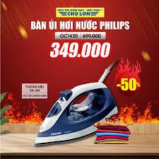 Bàn Ủi Hơi Nước PHILIPS GC1430 giảm 50%... - Siêu Thị Điện Máy - Nội Thất Chợ  Lớn