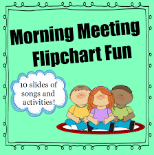 Number Of The Week Flip Chart Morning Meeting Flipchart Fun Good Morning Song Morning