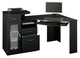 Modern Corner Computer Desks Comfy Furniture Sweet Black Desk