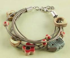brookside blooms bracelet by danielle fox multiple cords glued into cord ends cord