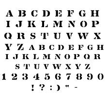 cool letter stencils stencil font alphabet