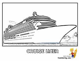 Disney Cruise Ship Coloring Pages To Print With Just Arrived Cruise