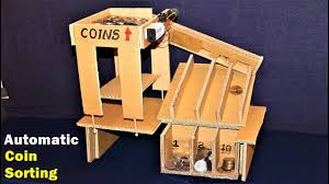 how to make a coin sorting machine at home electric