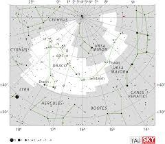 July 2018 Star Chart Draco Constellation Wikipedia