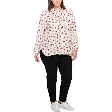 Tommy Hilfiger Plus Size Chart Amazon Com Tommy Hilfiger Plus Size Printed Shirt Clothing