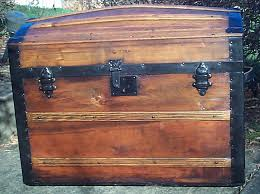red dome top antique trunk for 610