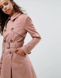asos classic trench pink