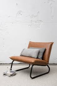 Fauteuil Yarra 83x90x83 Cm Recycled Leather Cognac 2 Building A