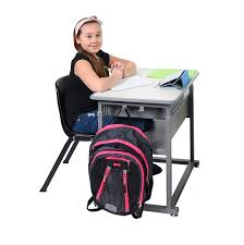 student sitting in chair. Perfect Sitting Sit And Stand Student Desk  Manual By Luxor STUDENTM Stock 58224 For Sitting In Chair H