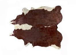 lifestyle brands natural 6 ft x 7 ft brown and white kobe cowhide area