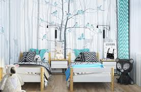 teal white bedroom