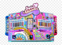 Sweet Vending Machine Magnificent Cotton Candy Vending Machines Gingerbread House Candy Png Download