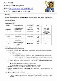 Resume Format For Vj Fresher Oneswordnet