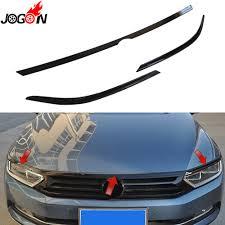 Volkswagen Car With Screw Light Piano Black For Volkswagen Vw Passat B8 3g 2015 2018 Car Headlight Head Lamp Light Eyelid Hood Engine Sticker Cover Trim