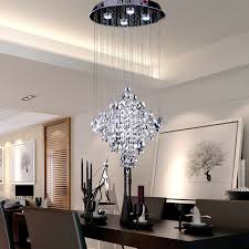 crystal contemporary chandelier lighting modern light fixtures simple large chandeliers candle hanging table lamp ceiling fixture long linear pendant design