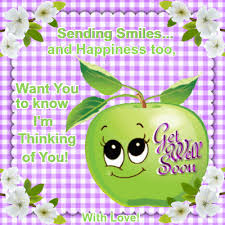 everyday cards get well soon section send this cute apple with lots of smiles