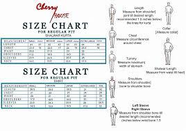 House Size Chart Size Charts Cherry