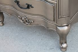 silver painted furniture. Painting Furniture Silver Metallic Painted