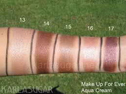 make up for ever makeup forever aqua cream aquacream swatches 13