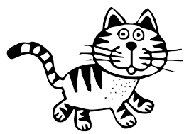 black and white cat clipart. Clip Royalty Free Download Feline Tabby On Dumielauxepices Net Art Black And White Cat Throughout Clipart