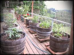 deck vegetable garden containers spaces