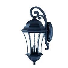 acclaim lighting waverly collection 3 light matte black outdoor wall mount light fixture