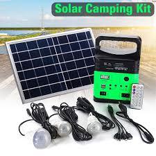 Solar Batteries For Outdoor Solar Lights Us 47 97 20 Off Portable Solar Generator Outdoor Power Mini Dc6w Solar Panel 6v 9ah Lead Acid Battery Charging Led Lighting System In Solar Lamps